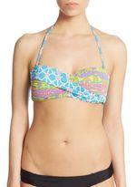 Trina Turk Venice Twist-Front Bikini Top