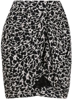 Etoile Isabel Marant Ruched Animal Print Skirt