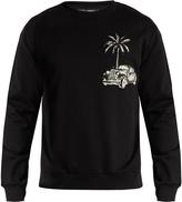 Dolce & Gabbana Palm tree and car-embroidered sweatshirt