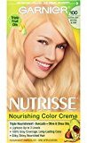 Garnier Nutrisse Nourishing Color Creme, 100 Extra-Light Natural Blonde (Chamomile)(Packaging May Vary)