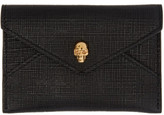 Alexander McQueen Black and Gold Skull Envelope Card Holder