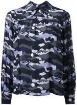 MAISON KITSUNÉ landscape print shirt - women - Silk - 34