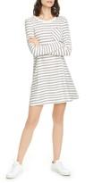 ATM Anthony Thomas Melillo Stripe Shimmer Long Sleeve T-Shirt Dress