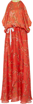 Alexis Angia Red Floral Maxi Dress