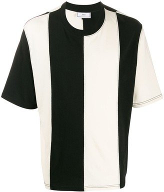 Ami striped logo patch T-shirt