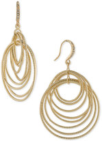 ABS by Allen Schwartz Gold-Tone Multi-Ring Drop Earrings