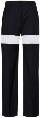 Thierry Mugler High-rise wool straight pants