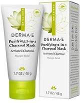 Derma E Purifying 2-in-1 Charcoal Mask Face Mask, 1.7 Ounce