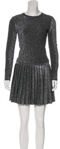 Chanel Metallic Pleated Dress