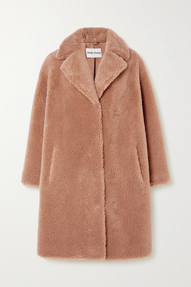 Stand Studio Camille Cocoon Faux Shearling Coat - Beige
