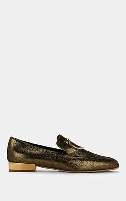 Salvatore Ferragamo Women's Lana Metallic Leather Loafers - Gold