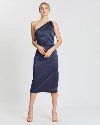 Reiss One Shoulder Cocktail Dress