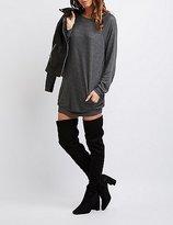 Charlotte Russe Raglan Sweatshirt Dress