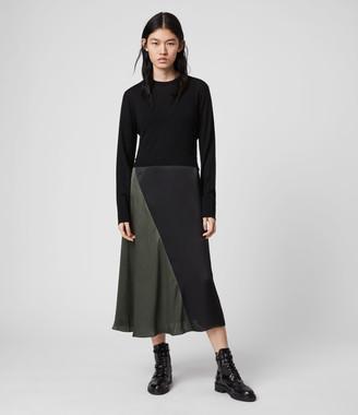AllSaints Ageta Tie 2-in-1 Dress