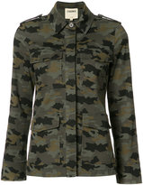 L'Agence camouflage jacket - women - Cotton/Spandex/Elastane - M