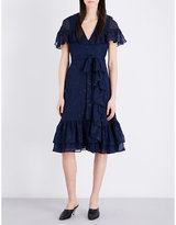 Co Ruffled silk-chiffon dress