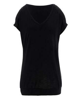 Capsule Lace Shoulder Split Sleeve Top