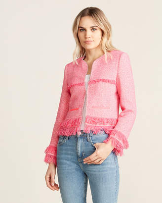 Atos Lombardini Pink Tassel Fringe Gem Jacket