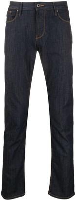 Emporio Armani High Rise Slim-Fit Jeans