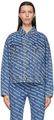 Alexander Wang Blue & White Game Logo Jacket