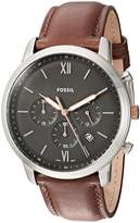 Fossil FS5408 Chrono Leather Band Men's Watch