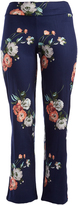 Glam Navy & Pink Floral Straight-Leg Pants - Plus