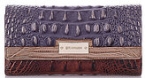 Brahmin Lucino Collection Crocodile-Embossed Soft Checkbook Wallet