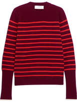 La Ligne Striped Cashmere Sweater - Red