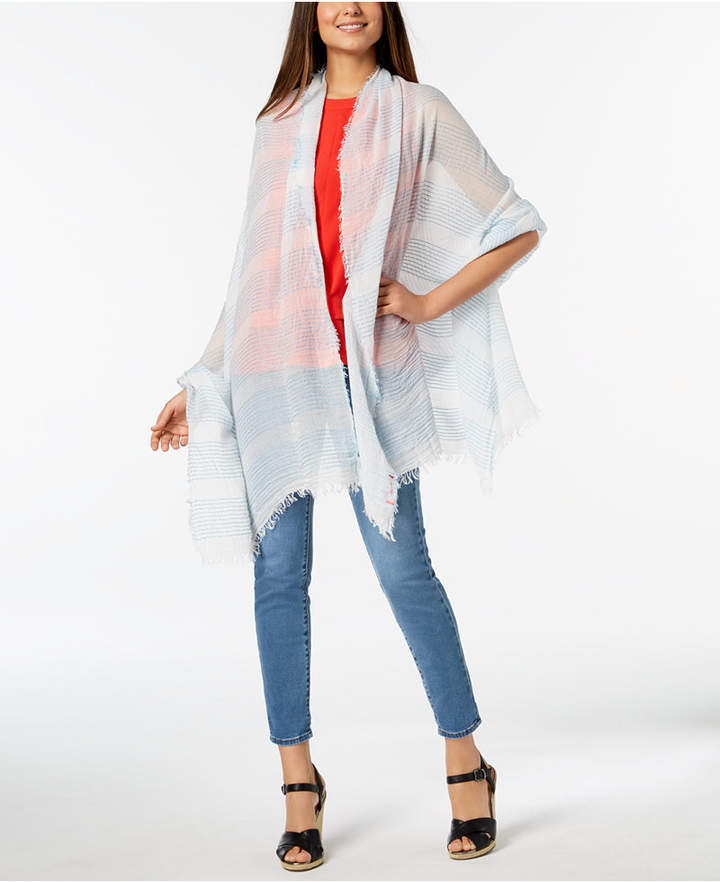 Betsey Johnson Shimmer Stripe Day Cover-Up & Wrap