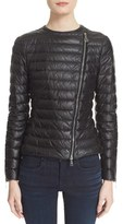 Moncler Women's 'Palomete' Lambskin Leather Down Moto Jacket