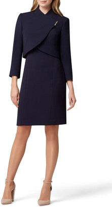 Tahari Sheath Dress & Cropped Jacket