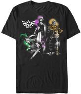 Fifth Sun Men's Tee Shirts BLACK - Legend of Zelda Black Triforce Trio Tee - Men