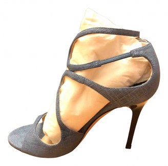 Jimmy Choo Lance Blue Cloth Sandals