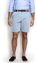 "Lands' End Men's Traditional Fit 9"" Plain Front Comfort Waist Casual Chino Shorts-Light Stone"