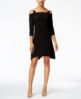 MSK Cold-Shoulder Shift Dress