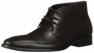 Calvin Klein Men's Rolando Box Leather/Stamp Texture Chukka Boot