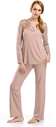 Hanro Women's Violetta Long Sleeve Pajama Set