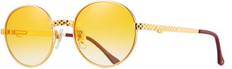 Vintage Frames Company Men's Circle Masterpiece Gold-Plated Round Sunglasses