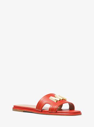 Michael Kors Kippy Embellished Leather Slide Sandal