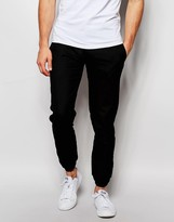 Asos Slim Fit Trouser With Double Cuff - Black