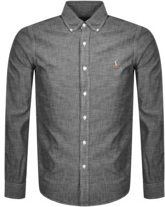 Ralph Lauren Chambray Slim Fit Shirt Grey