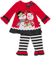 Rare Editions 2-Pc. Snowman Top & Leggings Set, Toddler & Little Girls (2T-6X)