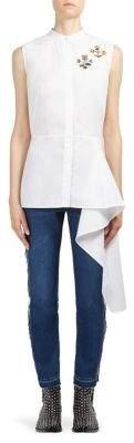 Alexander McQueen Asymmetrical Sleeveless Shirt