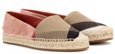 Burberry Hodgeson Suede And Check Espadrilles