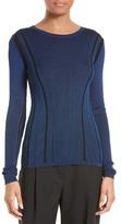 Diane von Furstenberg Women's Ribbed Merino Wool Blend Top