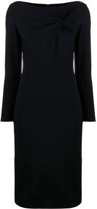 Emporio Armani Fitted Midi Dress