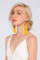 Vanessa Mooney Astrid Knotted Tassel Earrings in Gold