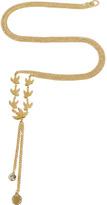 Marc by Marc Jacobs Golden Lariat Flight Necklace