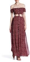 Reverse Rose Cutout Maxi Dress