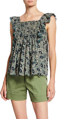 Sea Lucia Quilted Flutter Tank Top